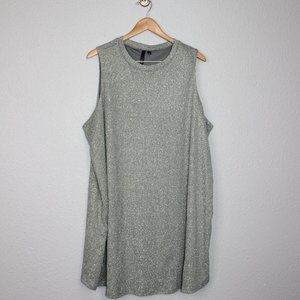 Three Hearts Metallic Silver Sleeveless Dress